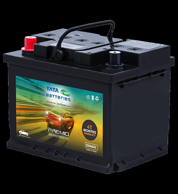 Premio DIN60L Battery for Car