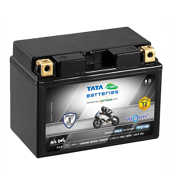 Velocity Plus YTZ14S Battery for Bike & Scooter