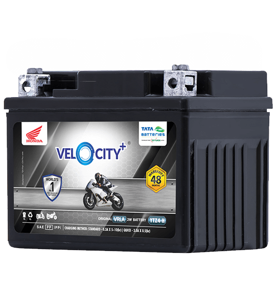 Velocity Plus YTZ4-H Battery for Bike & Scooter