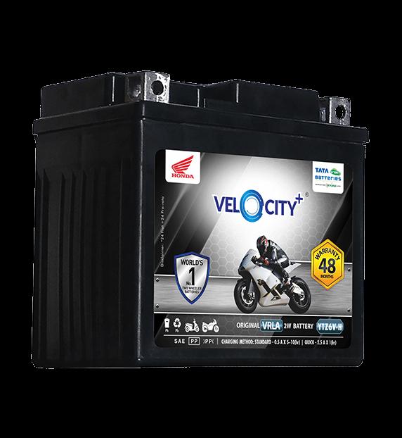 Velocity Plus YTZ6V-H Battery for Bike & Scooter