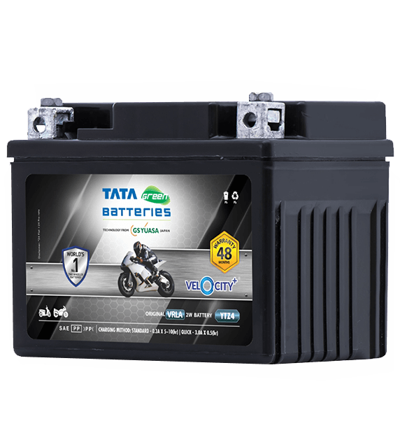Velocity Plus YTZ4 Battery for Bike & Scooter
