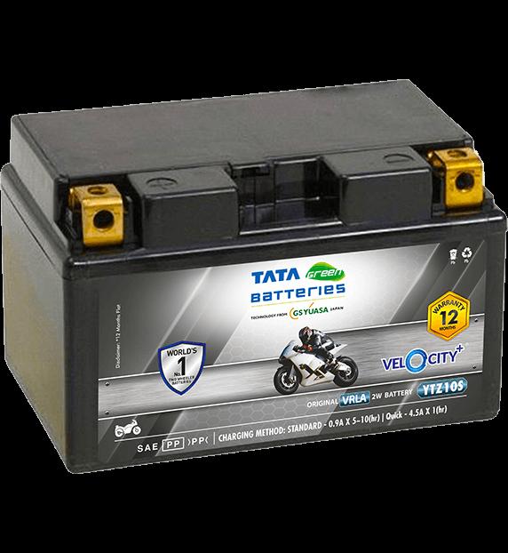 Velocity Plus YTZ10S Bike Battery